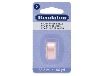 Beadalon Pink 4 Nymo Beading      Thread Size D 0.30mm, 58.5m Spool