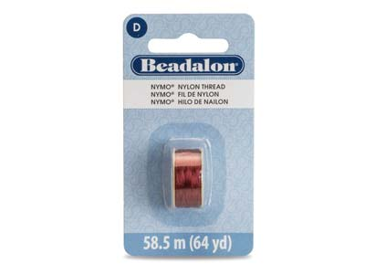 Beadalon Shoe Red Nymo Beading     Thread Size D 0.30mm, 58.5m Spool