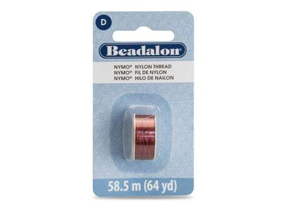 Beadalon Burgundy Nymo Beading     Thread Size D 0.30mm, 58.5m Spool