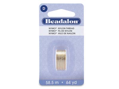 Beadalon Sand Ash Nymo Beading     Thread Size D 0.30mm, 58.5m Spool