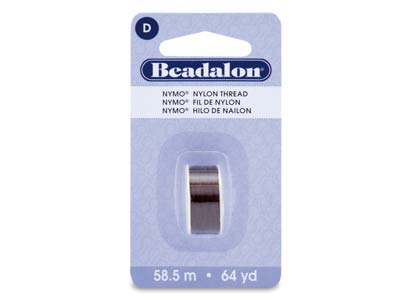 Beadalon Brown Nymo Beading Thread Size D 0.30mm, 58.5m Spool