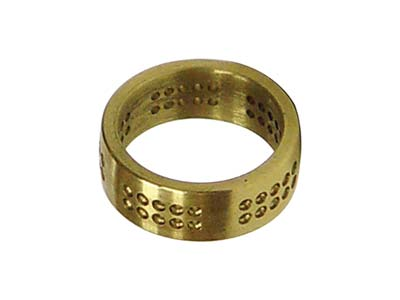 GRS Brass Practice Pave Set Ring   7.0mm With 1.5mm Holes And Flat    Surface