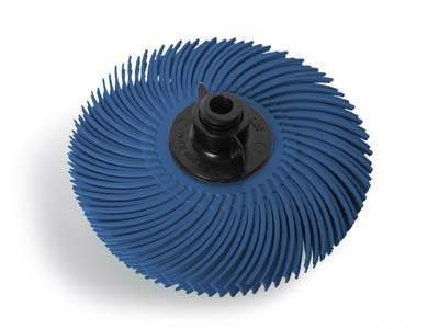 JoolTool 3M Radial Bristle Brush   76mm3 Blue 400 Grit 4 Layers