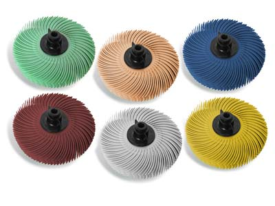JoolTool 3M Radial Bristle Brush   76mm3 Set Of 6, 6 Layers
