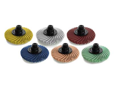 JoolTool 3M Radial Bristle Brush   Small 50mm2 Set Of 6, 4 Layers