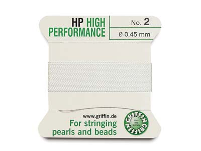 Griffin High Performance, Bead     Cord, White, Size 2
