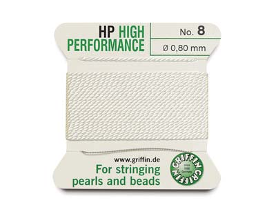 Griffin High Performance, Bead     Cord, White, Size 8