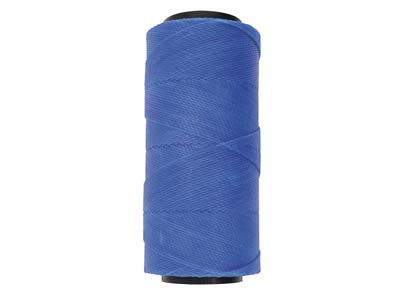 Beadsmith Knot-it Blue Brazilian   Wax Cord, 144m Spool