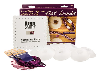 Beadsmith Kumihimo Braiding Kit For Flat Braids