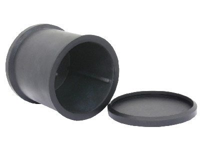Spare Metal Polishing Barrel With  Rubber Lid, For Evans Barrelling   Units