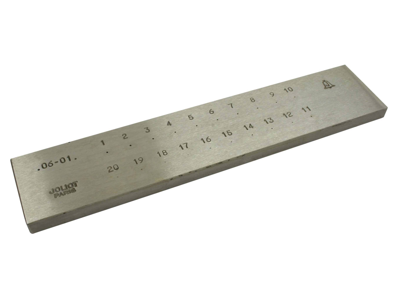 Round Drawplate 0.1-0.6mm 20 Holes