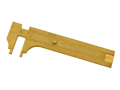 Brass Slide Gauge  Vernier 100mm X 0.01mm