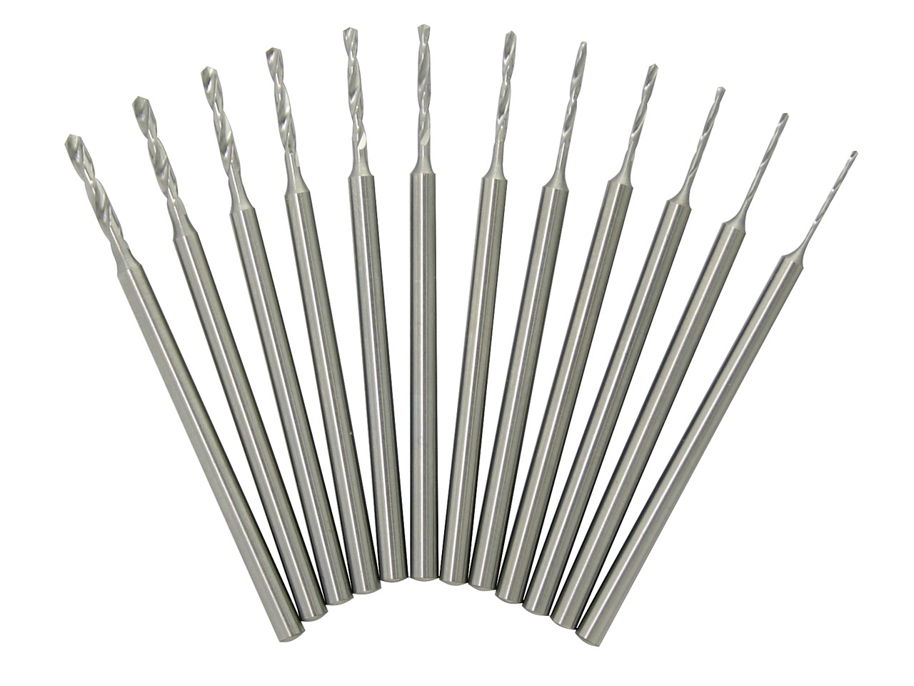 Malliefer Swiss Shank Drill Set Of 12, 0.5mm To 1.6mm