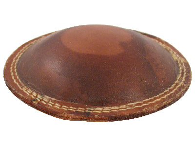 Multi Purpose Leather Cushion 6  160mm Diameter, Filled With Fine,  Light Weight Grit, 307g