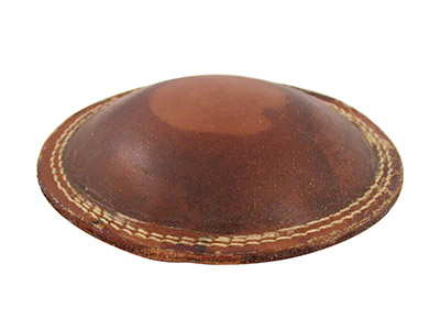 Multi Purpose Leather Cushion 8  180mm Diameter Filled With Fine  Light Weight Grit 588g