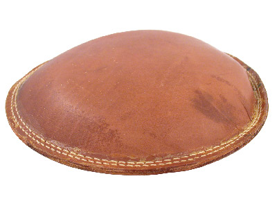 Multi Purpose Leather Cushion 10 230mm Diameter Filled With Fine  Light Weight Grit 913g