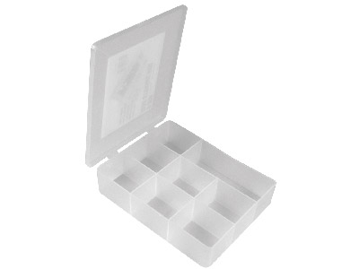 Beadalon Bead Storage Box, 8-bin, 18x14x4cm