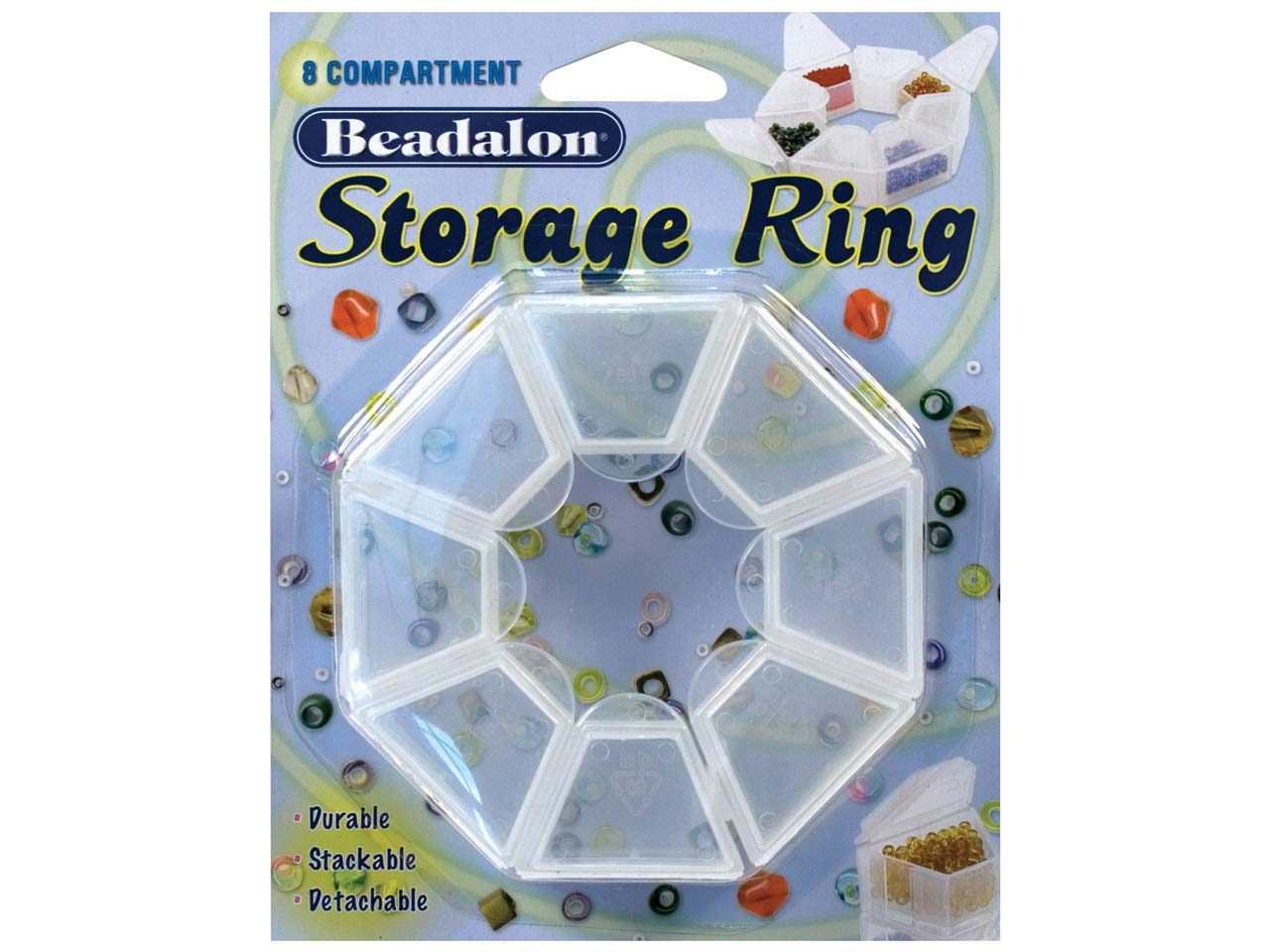 Beadalon Bead Storage Ring With 8  Separate Containers