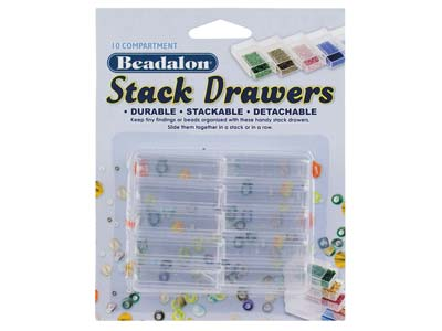 Beadalon Bead Storage Stack Drawers- Ten Drawers Per Pack