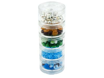 Beadalon Medium Bead Storage        Stackable Containers Five Per Stack