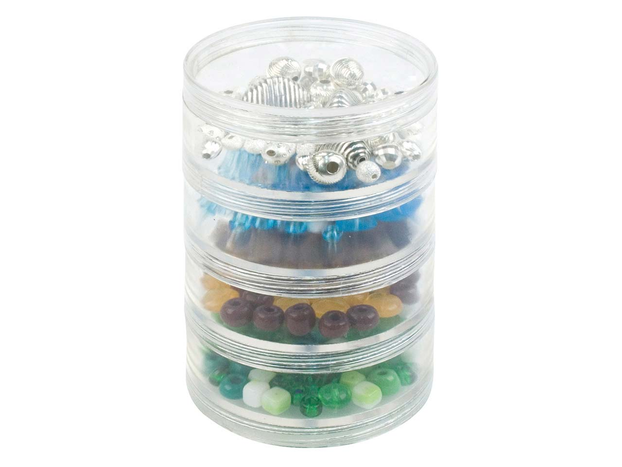 Beadalon Large Bead Storage         Stackable Containers Four Per Stack