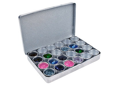 Storage Set, 24 Aluminium          Containers In An Aluminium Box