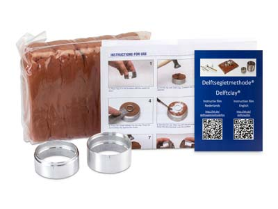Delft Modeling Clay Kit, 2kg Of Clay Plus Two Casting Rings, And An Instructional Dvd