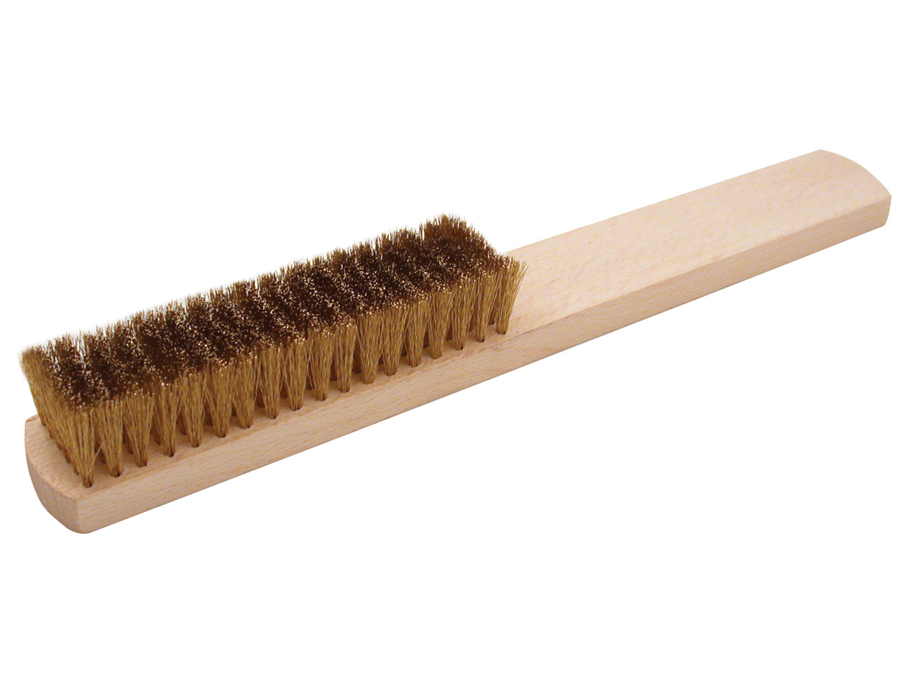 Wooden Handle Brass Brush 6 Row