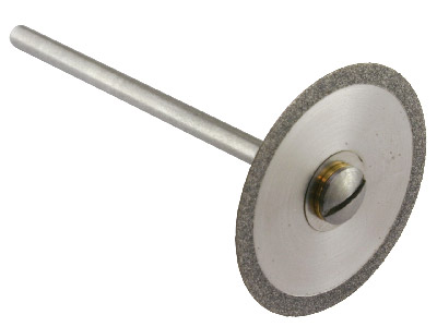 Diamond Burr Thin Disc 22mm With Mandrel