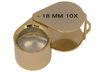 X10 Loupe Gold  Coloured  In Case