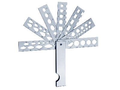 Diamond Fan Gauge With 7 Arms