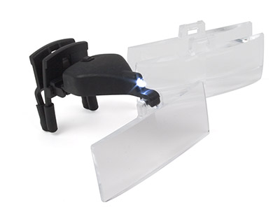 Glasses Magnifier With Led Lamp