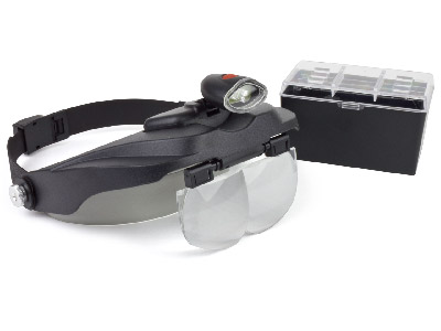 Headband Magnifier With Detachable LED Light