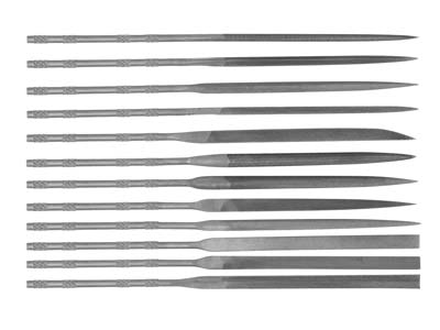 Set Of 12 Needle Files, 16cm All   Cut 2