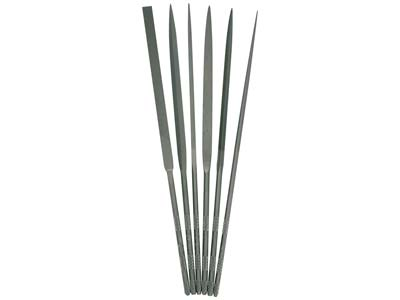 Set Of 6 Vallorbe Needle Files 16cm - All Cut 2