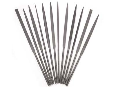 Set Of 12 Vallorbe Needle Files 16cm - All Cut 2