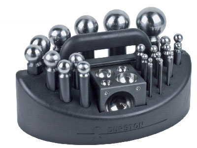 Durston 26 Piece Doming Set With Block  Carry Case