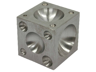 Steel Doming Block - 17 Hole Hole Width 4.5 To 42mm