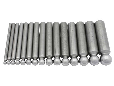 Set Of 15 Steel Doming Punches    Hole Width 5.0 To 19.0mm