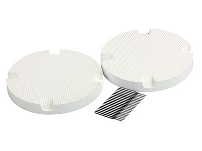 Round Honeycomb Soldering Board     Small Hole, Pack of 2 With 20 Metal Pins