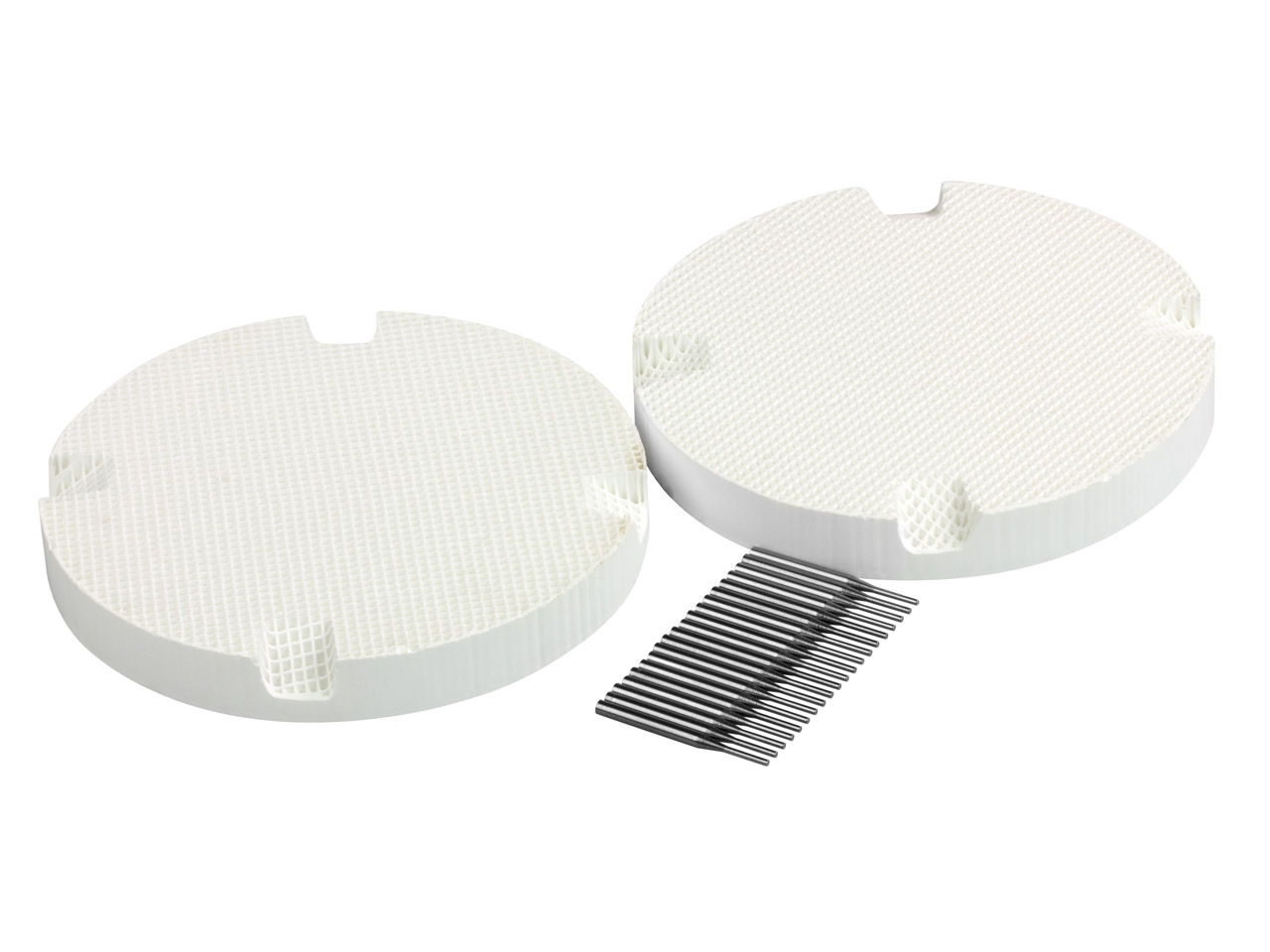 Round Honeycomb Soldering Board    Small Hole Pack of 2 With 20 Metal Pins