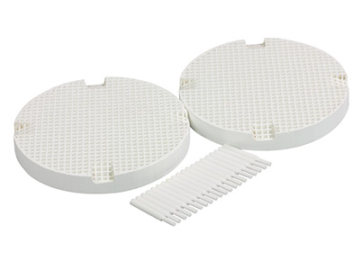 Round Honeycomb Soldering Board    Large Hole Pack of 2 With 20       Ceramic Pins