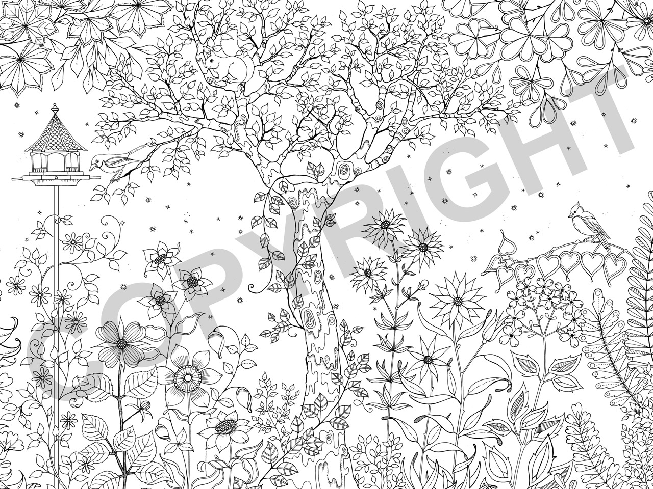 Secret Garden An Inky Treasure Hunt And Colouring Book By Johanna Basford Click To See Larger View