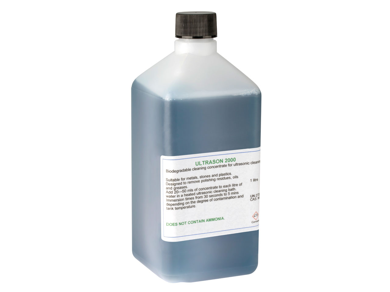 Ultrasonic 2000 Cleaning Fluid     1 Litre Biodegradable For          Ultrasonic