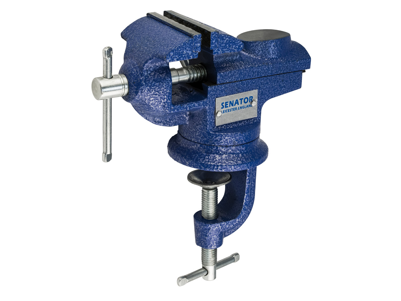 Bench Vice, Swivel Base G-clamp