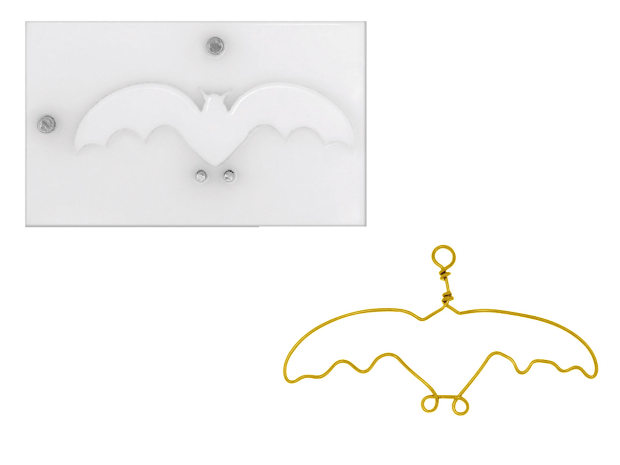 Beadalon Artistic Wire Findings    Forms Halloween Bat Jig