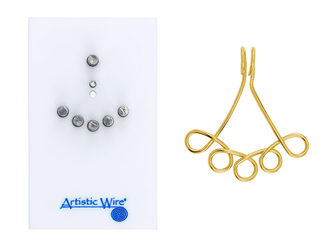 Beadalon Artistic Wire Findings Forms Connector 1 5 Jig Cooksongold Com