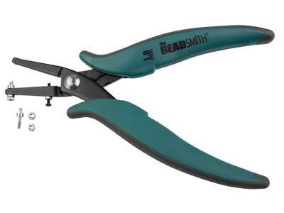 Beadsmith 1.8mm Hole Punch Pliers  With Metal Guard