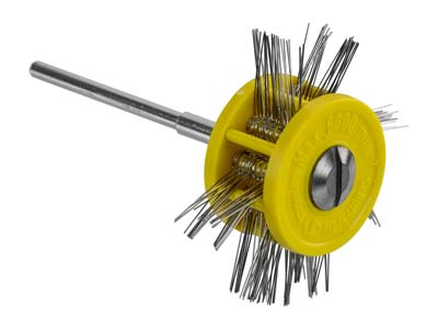 Pendant Frosting Wheel, Extra Fine 0.20mm On A 2.35mm Shank, Yellow