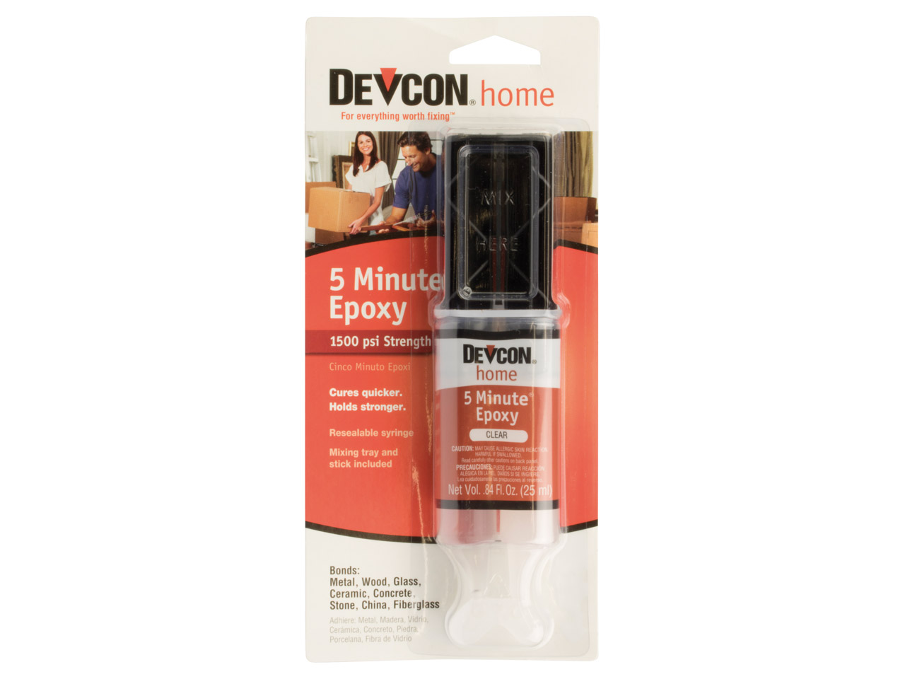 Devcon 5 Minute Epoxy Glue 25ml    Syringe Un3082